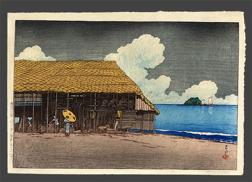 Hasui - seaside cottage