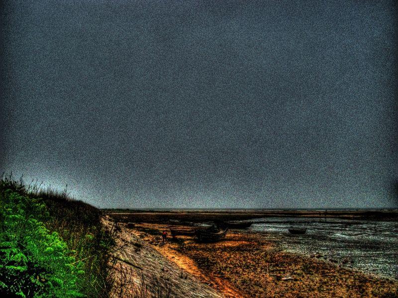 Mud beach